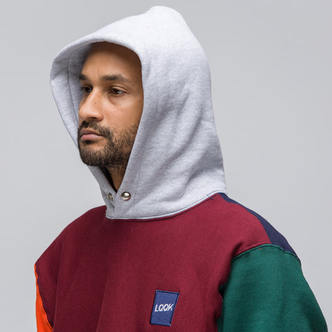 LQQK Studio Signature Snap Hoody in Multicolor - Notre