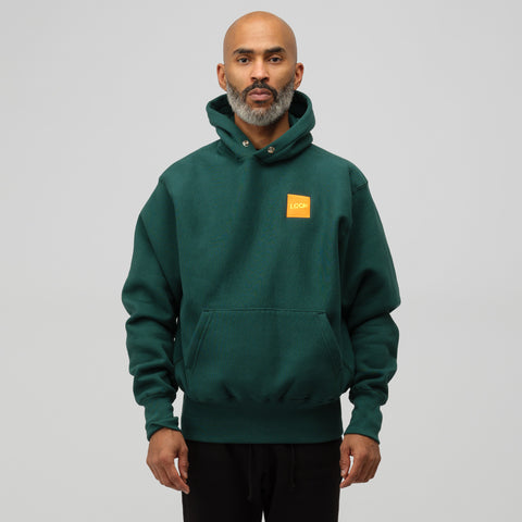 LQQK Studio Signature Snap Hoodie in Green - Notre