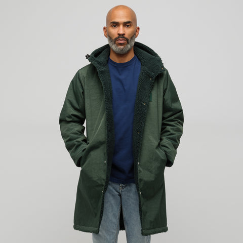 LQQK Studio Reversible Stadium Bully Jacket in Green - Notre