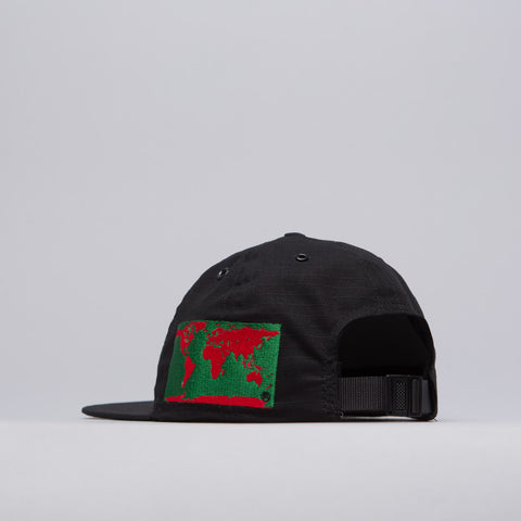 World Map Cap in Black