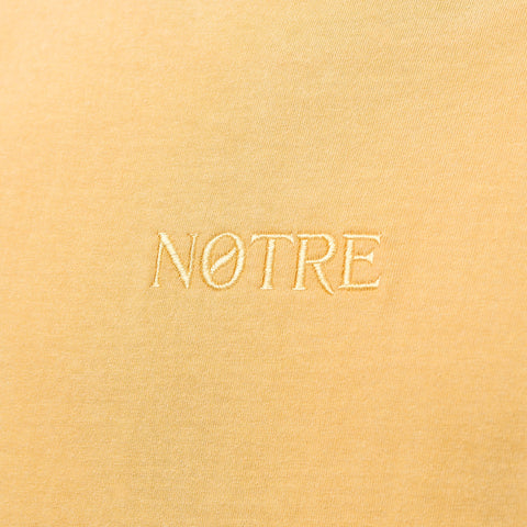 Notre L/S Washed Logo Tee in Mustard - Notre