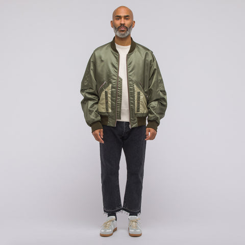 Maison Margiela Classic Nylon Bomber in Military Green - Notre