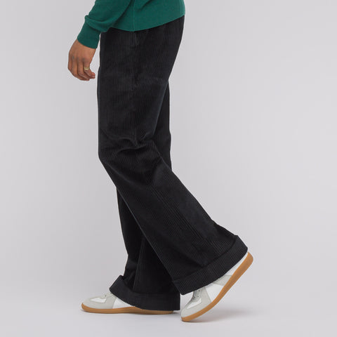 Maison Margiela Wide Leg Corduroy Trouser in Black - Notre