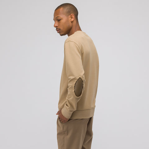 Maison Margiela Elbow Patch Cotton Sweatshirt in Tan - Notre