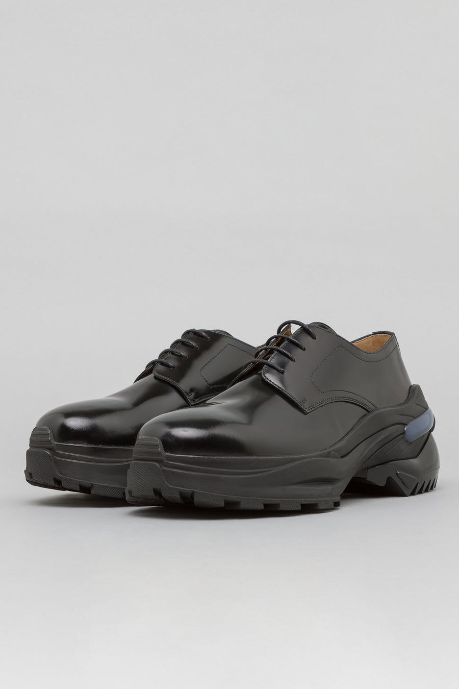 Maison Margiela Fusion Derby Shoe in Black Leather - Notre