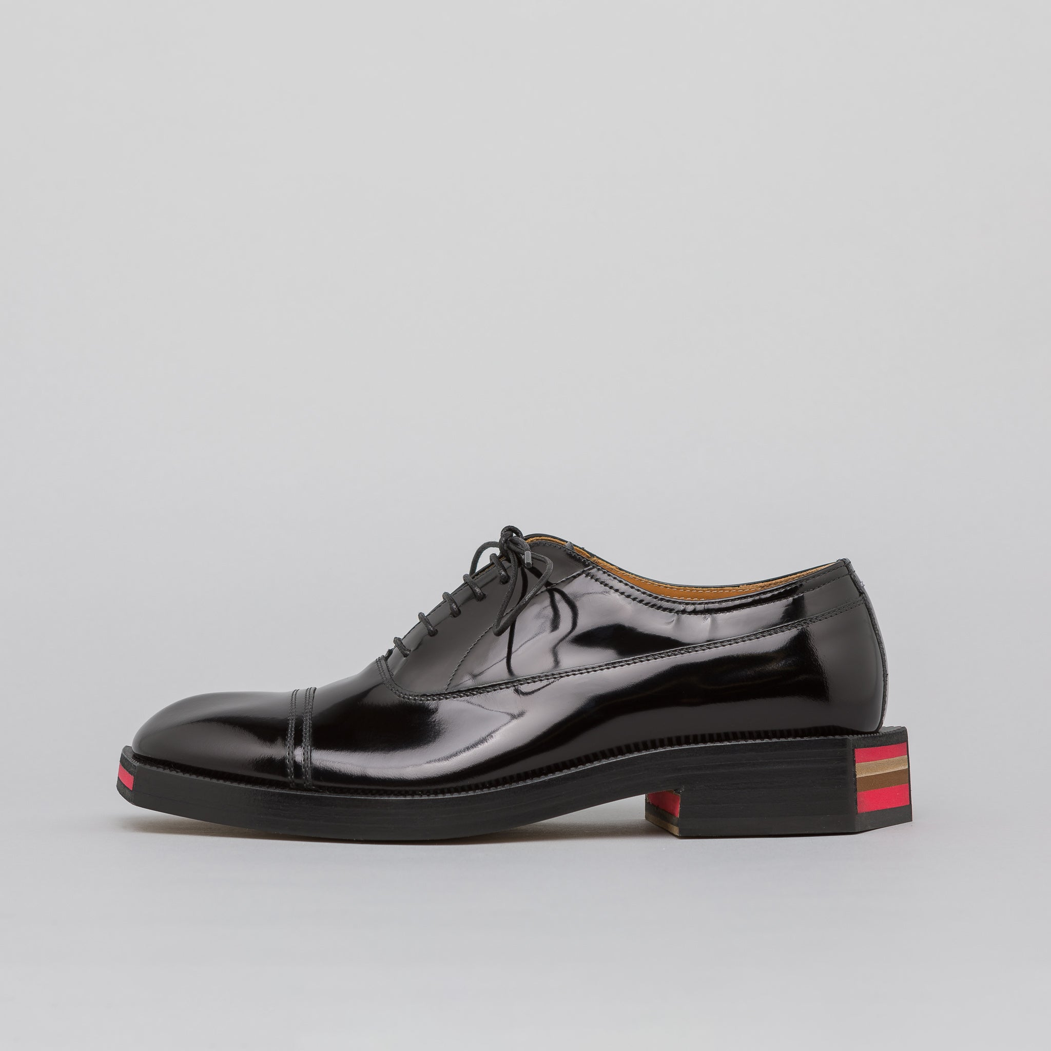 Patent Leather Derby Shoe in Black
