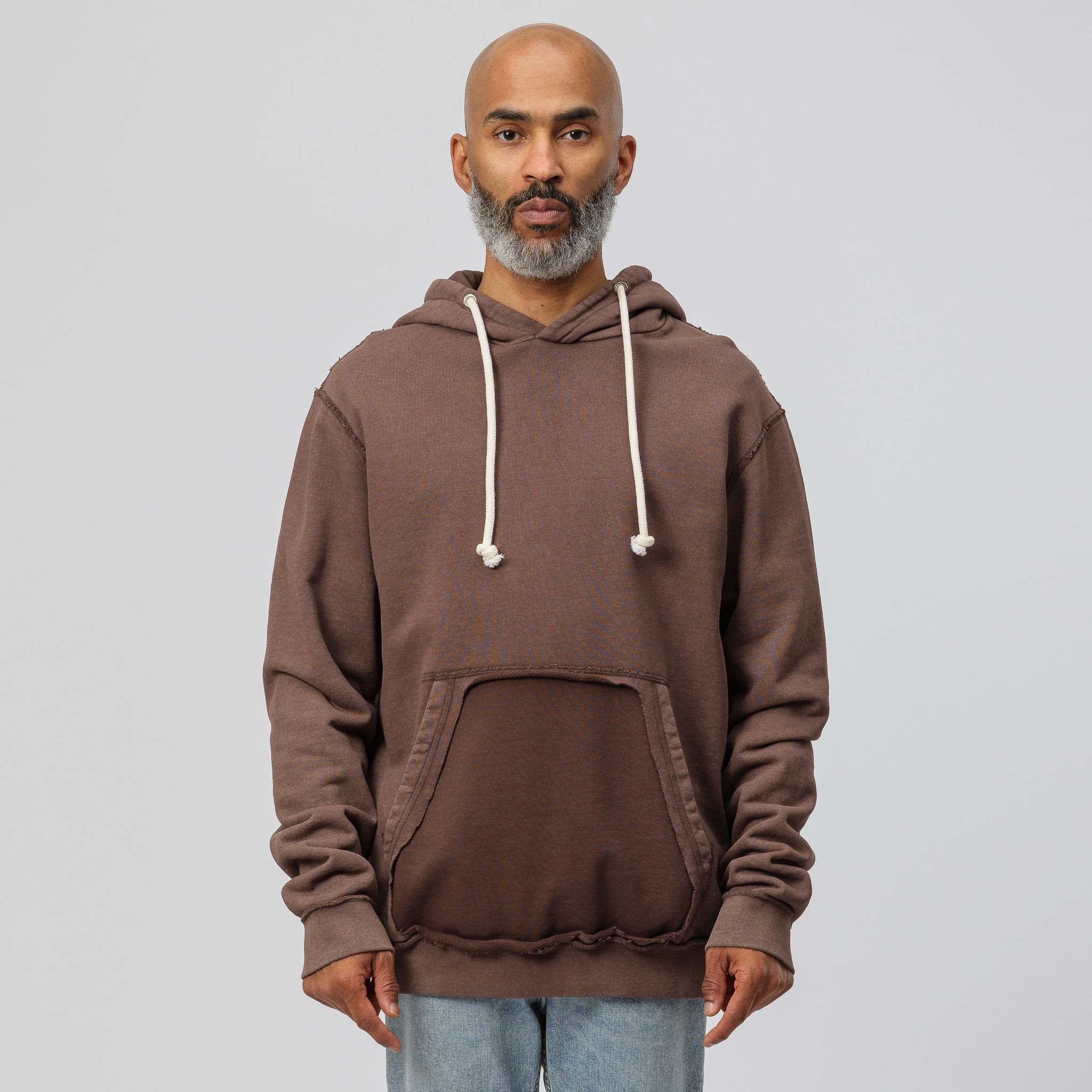 Hooded Sweatshirt in Brown
