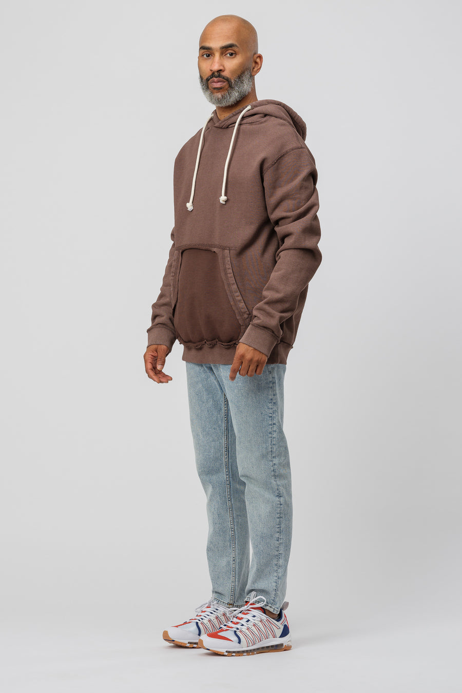 Maison Margiela Hooded Sweatshirt in Brown - Notre