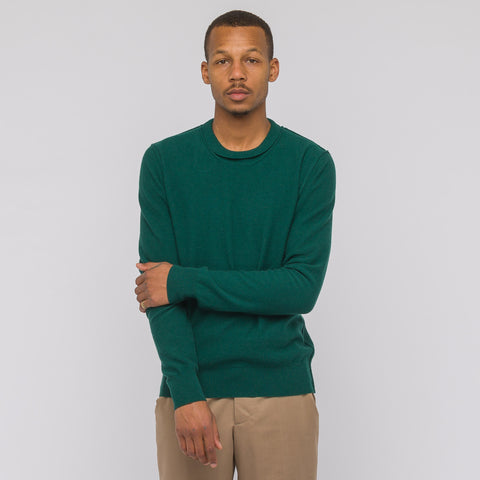 Maison Margiela Knit Sweater in Hunter Green - Notre