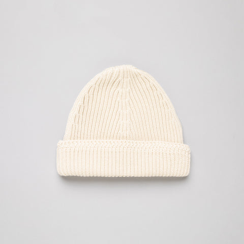 Maison Margiela Knit Wool Cap in Bone - Notre