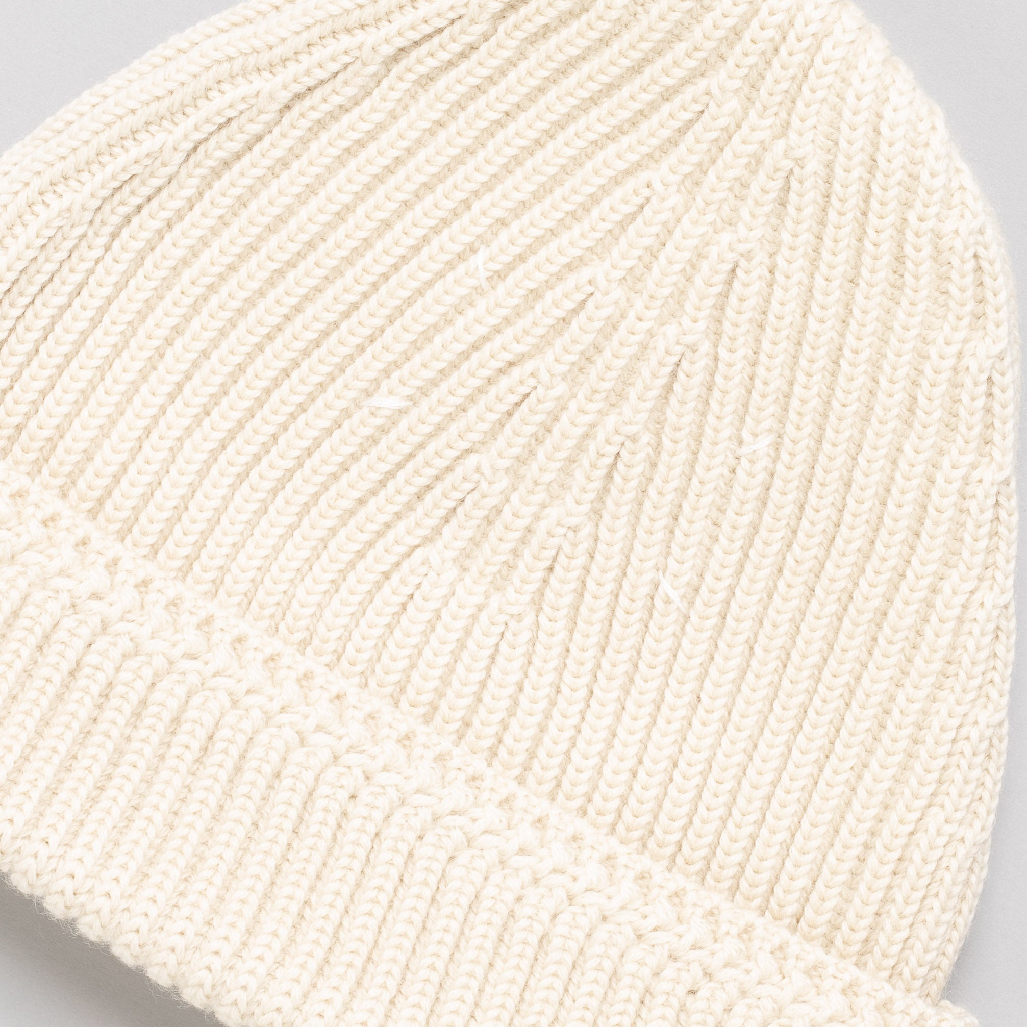 Knit Wool Cap in Bone