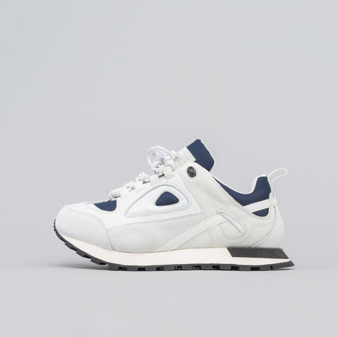 Maison Margiela Low Top Trainer in White/Klein Blue - Notre