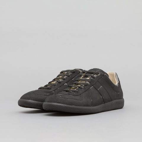 Maison Margiela Replica Sneaker in Painted Black Leather - Notre