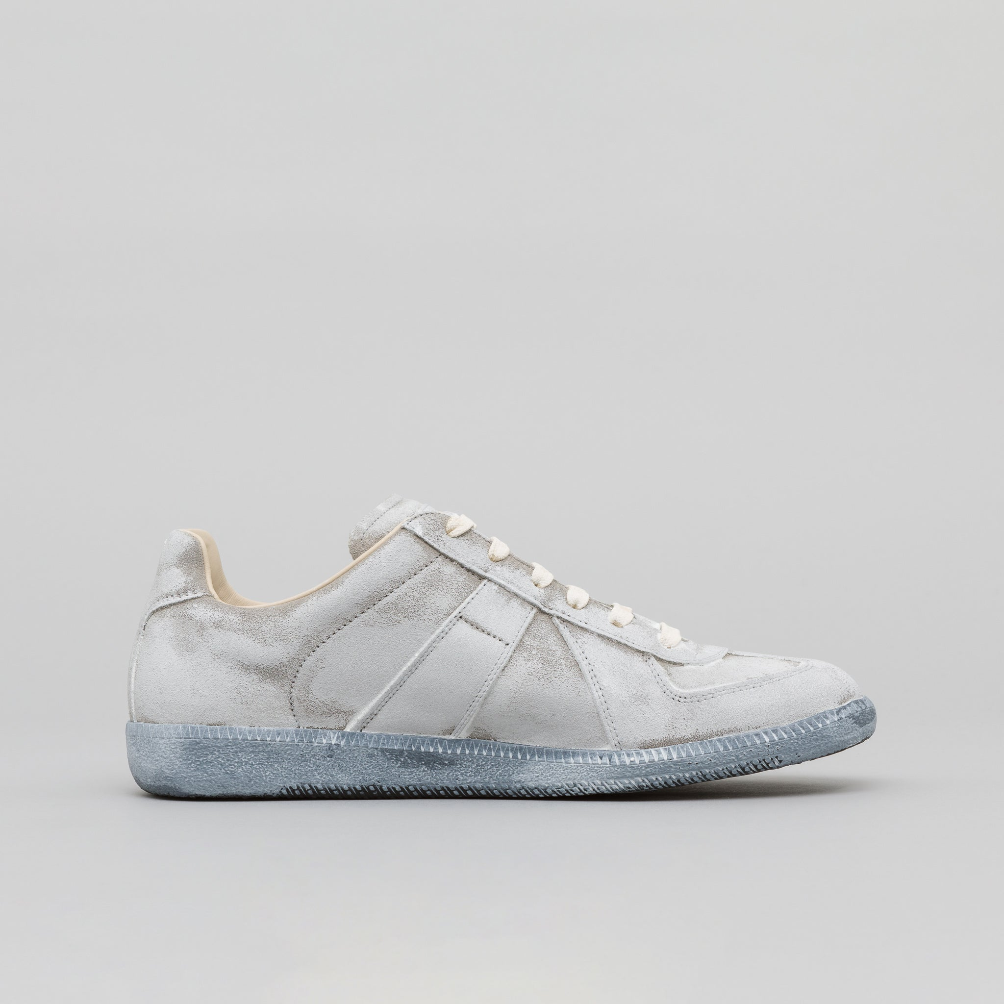 Replica Sneaker in Painted White Leather