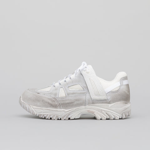 Maison Margiela Distressed Security Sneaker in White/Grey - Notre