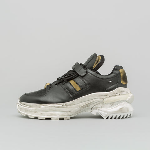 Maison Margiela Smooth Leather Chunky Sole Sneaker in Black/White - Notre