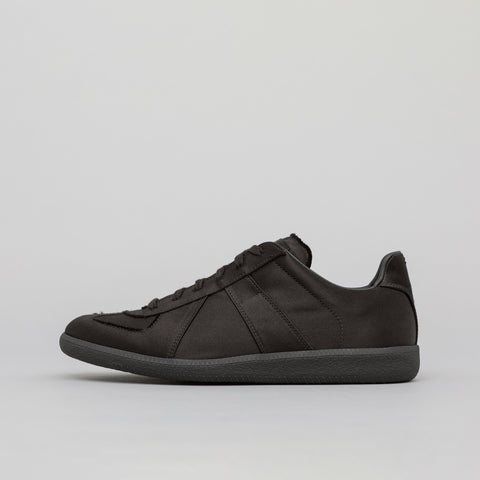 Maison Margiela Replica German Army Trainer in Black Satin - Notre