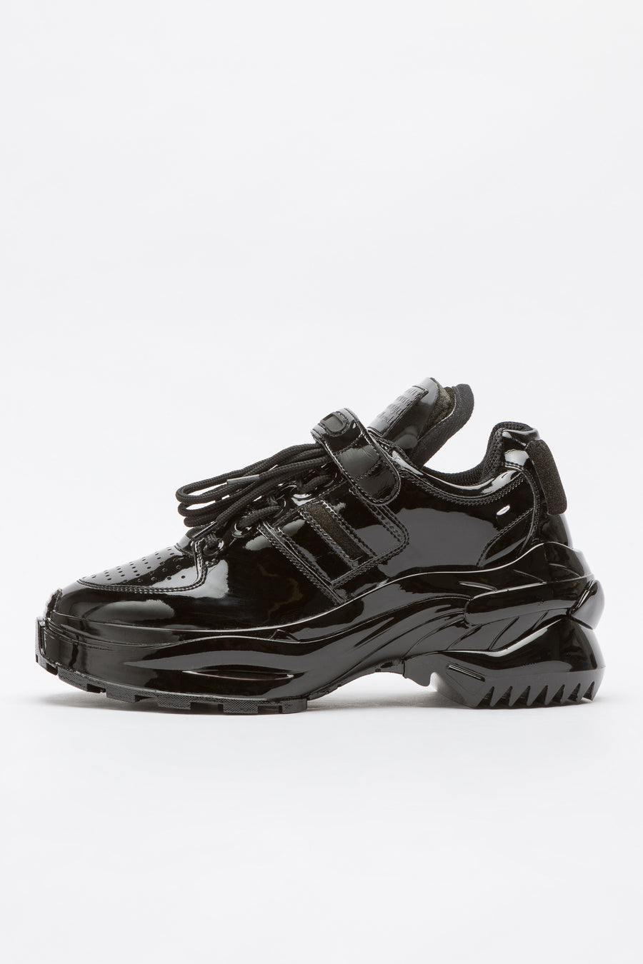 Maison Margiela Chunky Patent Leather Strap Sneaker in Black - Notre