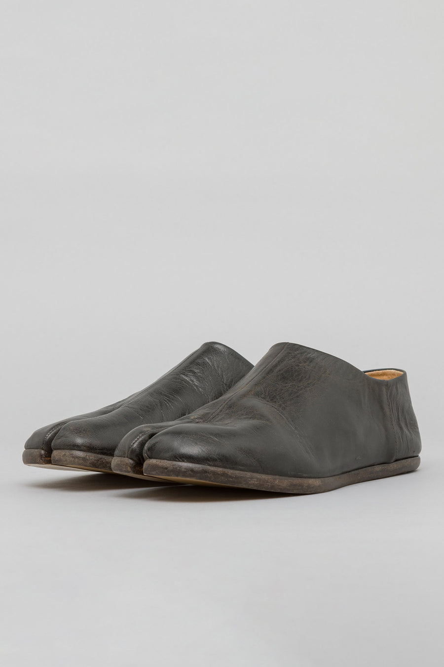 Maison Margiela Tabi Loafer in Black Goat Leather - Notre