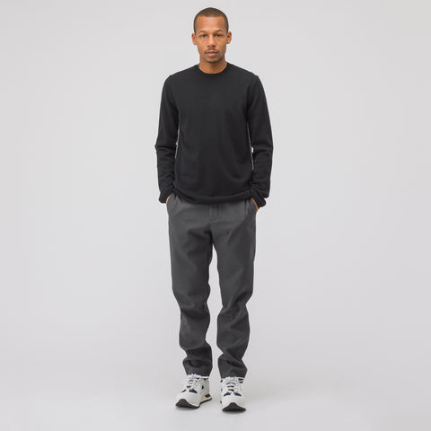 Maison Margiela Woven Trouser in Charcoal - Notre