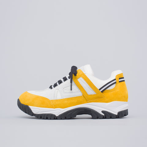 Maison Margiela 22 Security Sneaker in White/Yellow - Notre