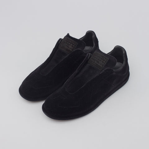Maison Margiela Velvet German Army Trainer in Black - Notre