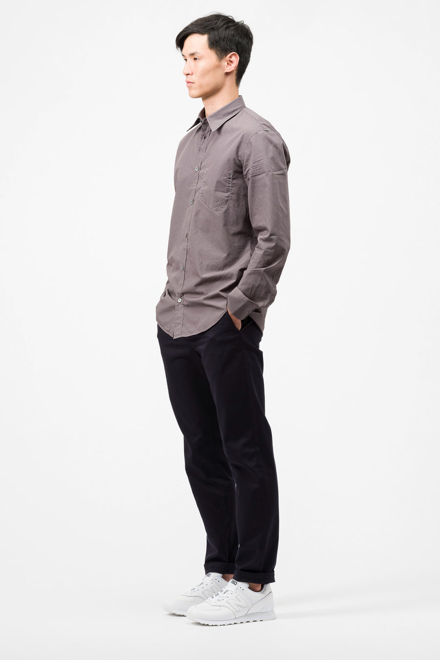 Maison Margiela Button Up Shirt in Dark Grey - Notre
