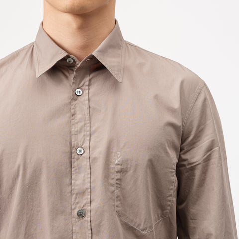 Maison Margiela Button Up Shirt in Taupe - Notre