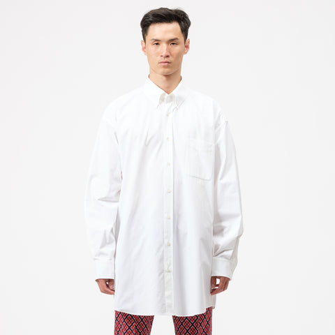 Maison Margiela Button Up Shirt in White - Notre