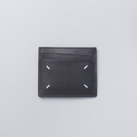 Maison Margiela Calfskin Card Holder in Black - Notre