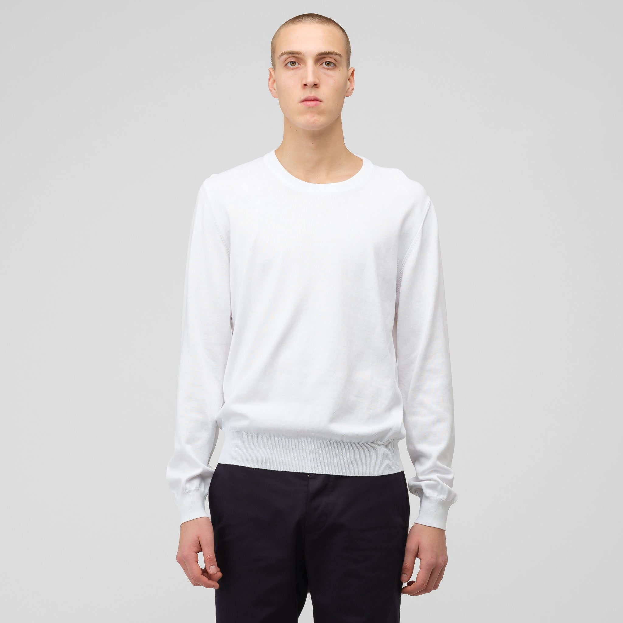 Crewneck Sweater in White