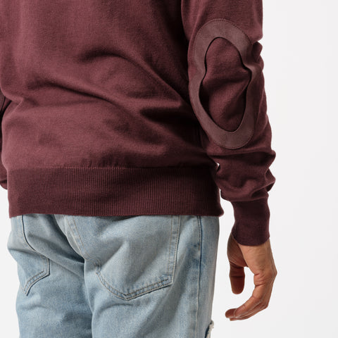 Maison Margiela Crewneck Sweater in Wine - Notre