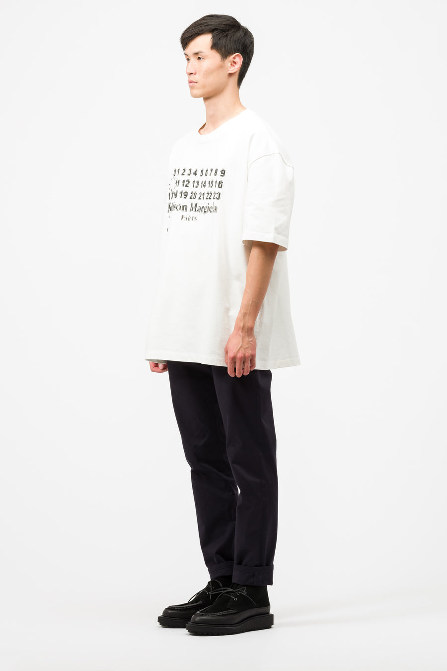 Maison Margiela Oversized Numbers T-shirt in White - Notre