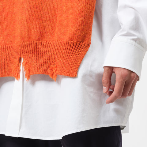 Maison Margiela Distressed Sleeveless Sweater in Orange - Notre