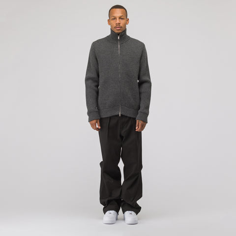 Maison Margiela Full Zip Sweater in Charcoal - Notre