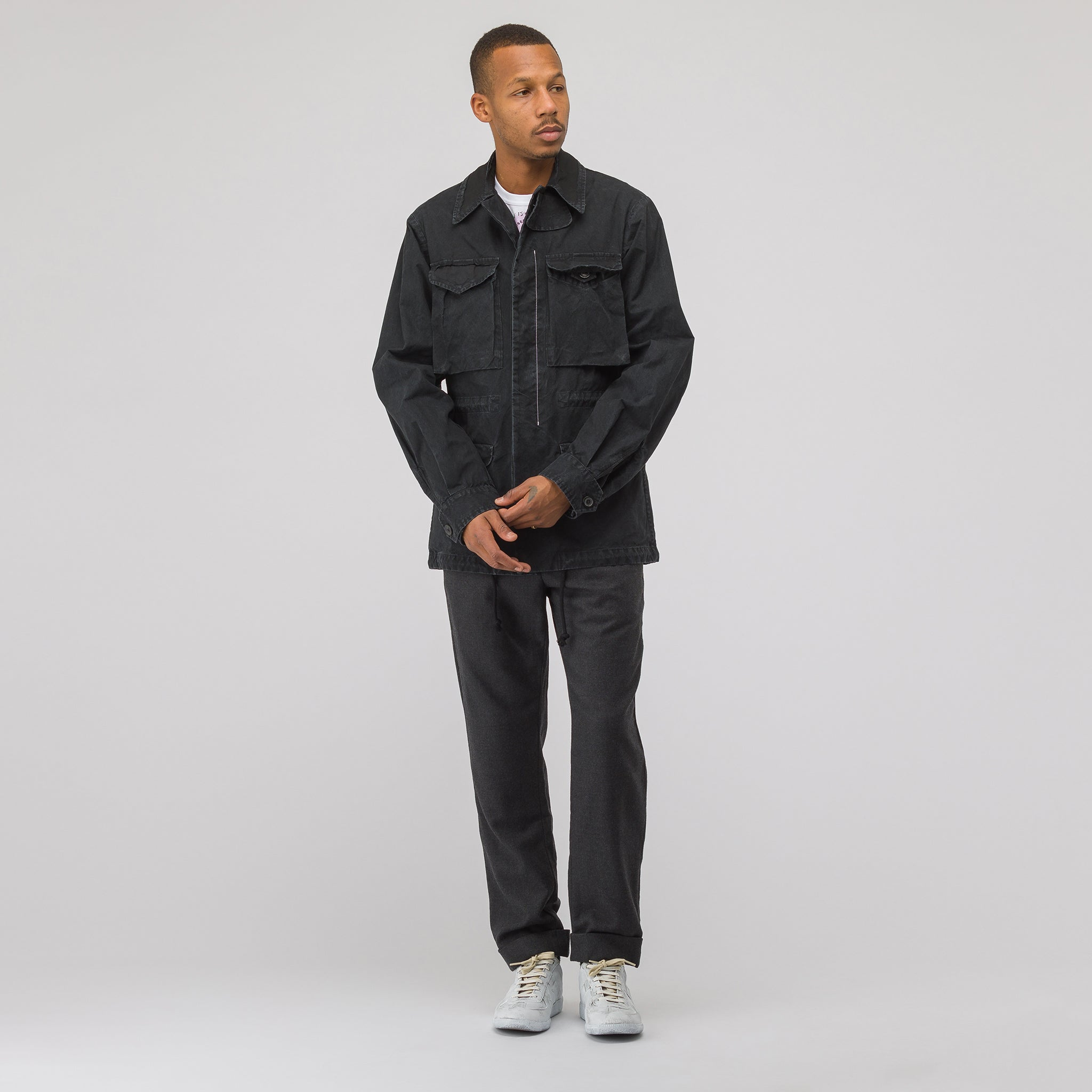Cotton Sports Jacket in Black