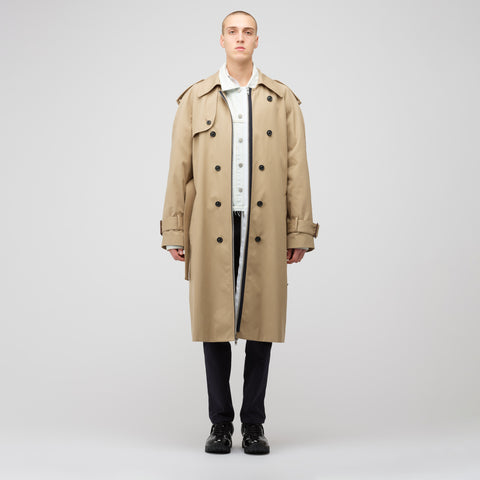 Maison Margiela Jean Jacket/Trench Coat in Khaki/Indigo - Notre