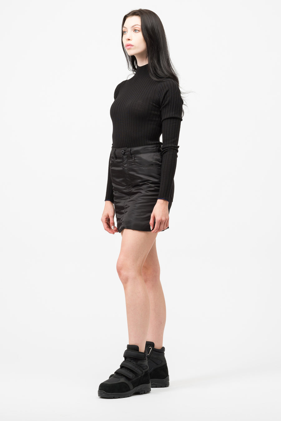 Maison Margiela MM6 Padded Mini Skirt in Black - Notre