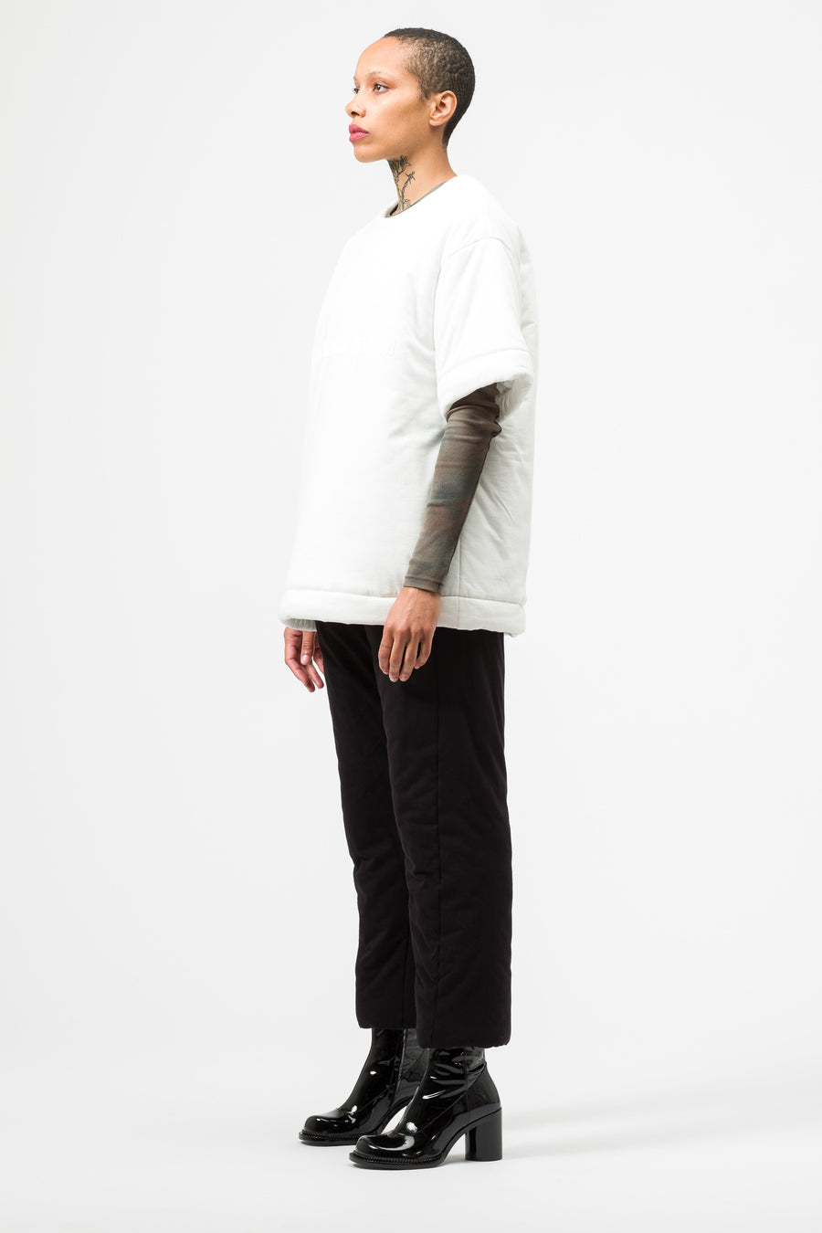Maison Margiela MM6 Padded Logo Shirt in White - Notre