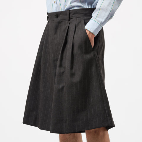 Maison Margiela Pinstripe Dress Shorts in Dark Grey - Notre