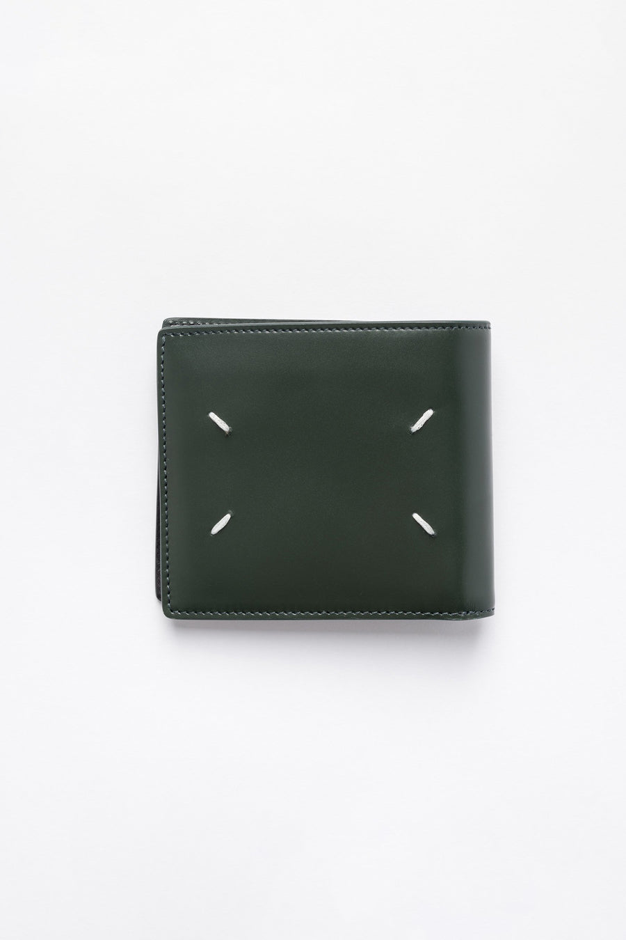 Maison Margiela Leather Folding Wallet in Dark Green - Notre