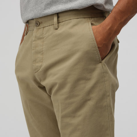 Maison Margiela Cotton Trouser in Khaki - Notre