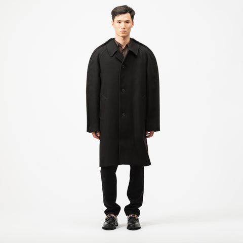 Maison Margiela Wool Coat in Black - Notre