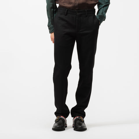Maison Margiela Wool Trouser in Black - Notre