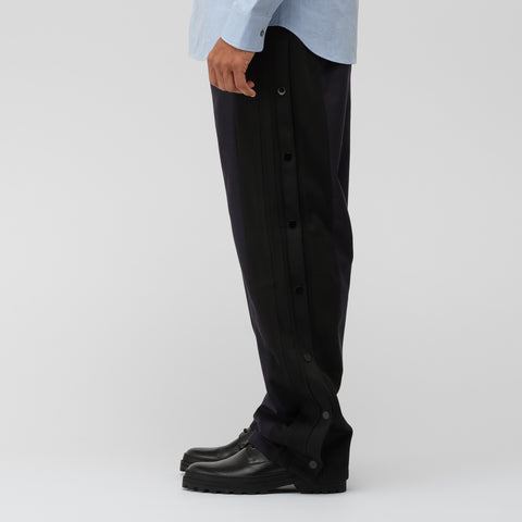 Maison Margiela Woven Side Snap Pant in Navy - Notre