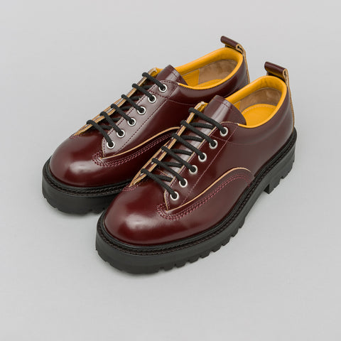 Marni Lug Sole Oxford in Oxblood - Notre