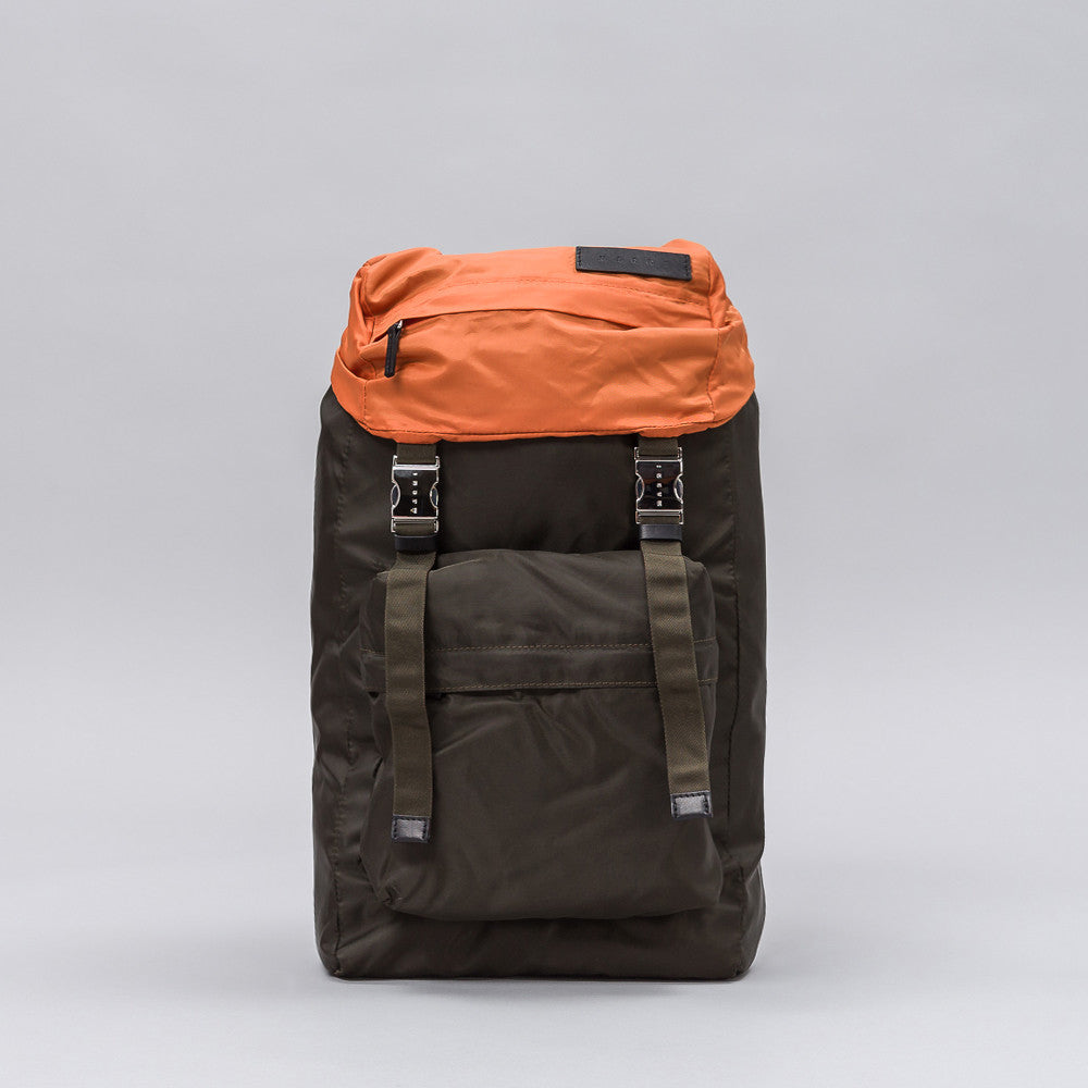 Marni Colorblock Backpack in Grey/Orange Notre 1