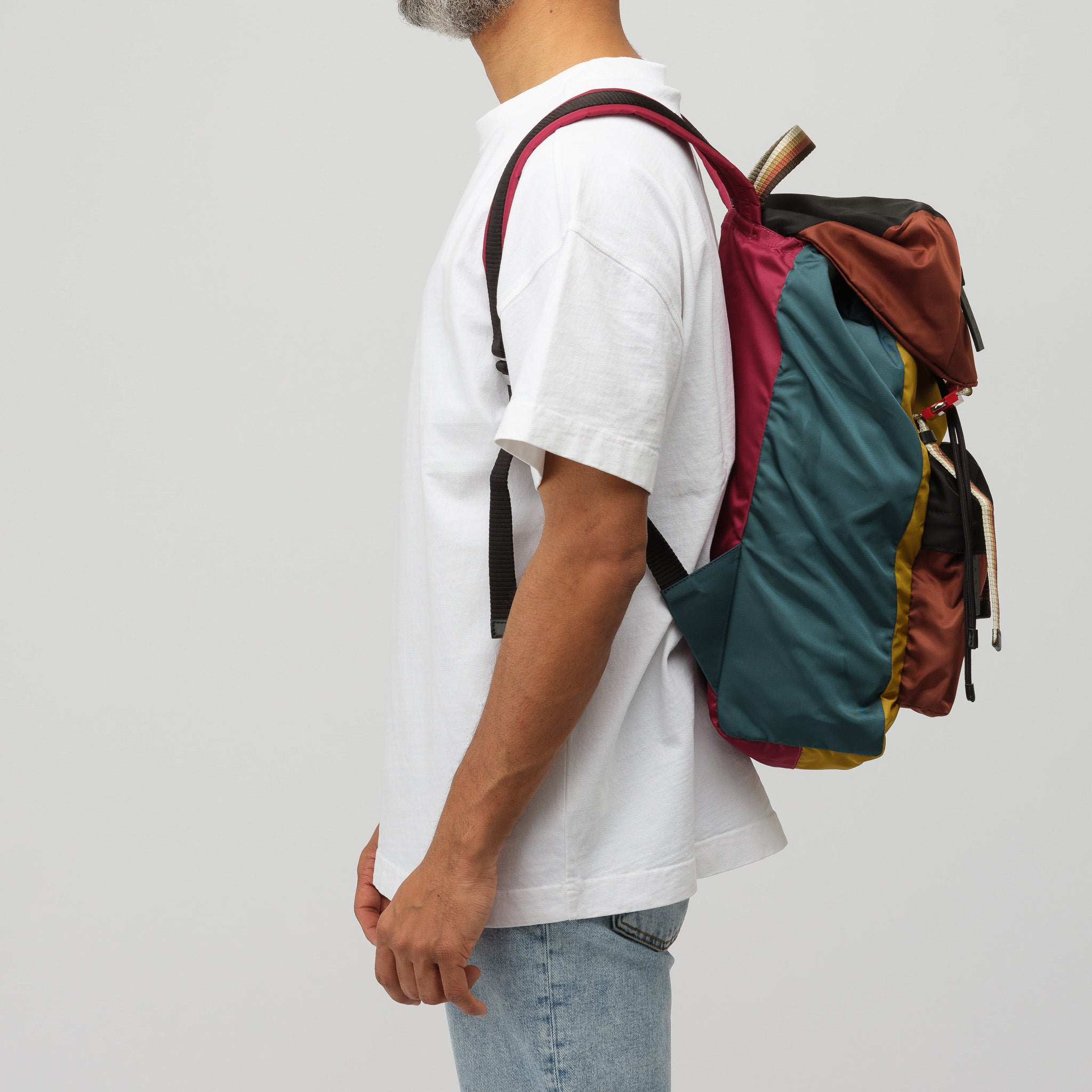 Colorblock Backpack in Yellow Multi