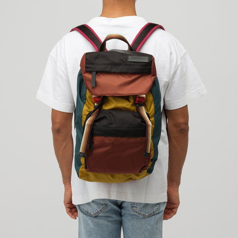 Marni Colorblock Backpack in Yellow Multi - Notre