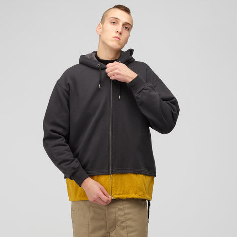 Marni Cotton Hooded Sweatshirt in Grey/Mustard - Notre